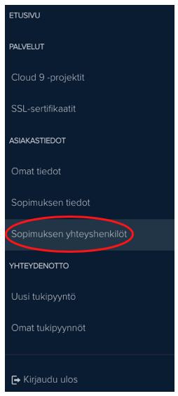 MyNebula yhteyshenkilö