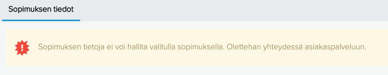 MyNebula sopimustietojen hallinta